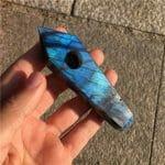 moonstone pipe labradorite pipe